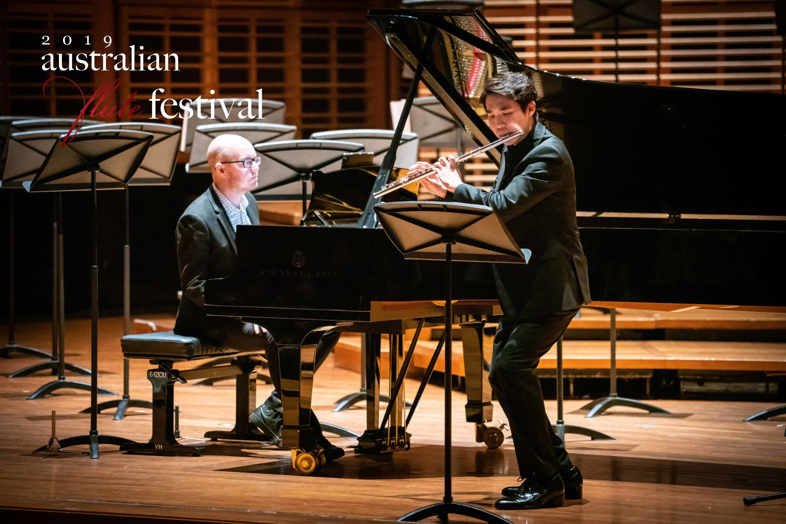 Brian Kim performing at the Australian Flute Festival 2019 Closing Concert.