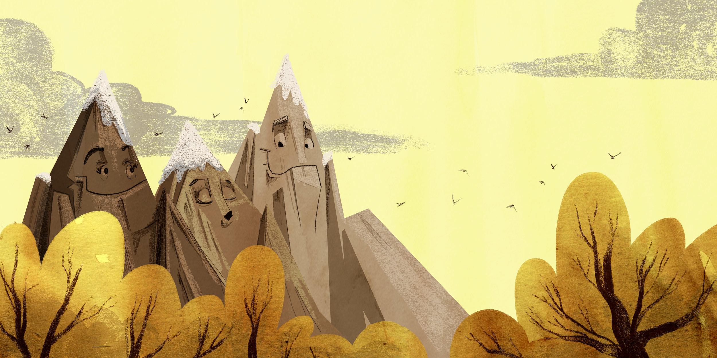 Sleepy Mountains /Letter R,  Alphabet Oddities . Illustrated by Forrest Burdett & written by Jennifer Joseph
