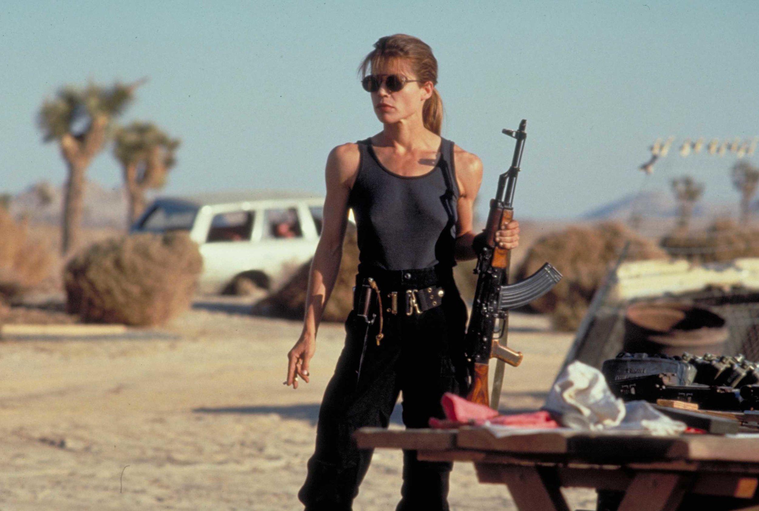 Linda Hamilton as Sarah Connor,  Terminator 2: Judgment Day