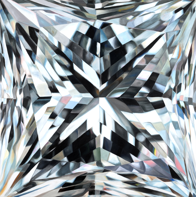 "105 CARATS • Acrylic on canvas • 60x60"" • 2012"