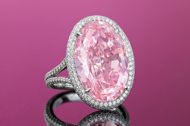 The Pink Promise: 14.93 carat pink diamond, sold for $31 million