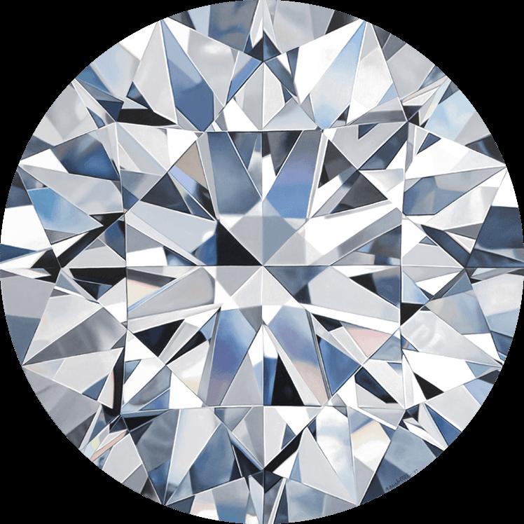 - CATHERINEround brilliant cut diamondoil on panel24 x 24 in2017