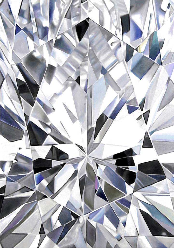 - LUCIApear cut diamondoil on canvas64 x 48 in2015