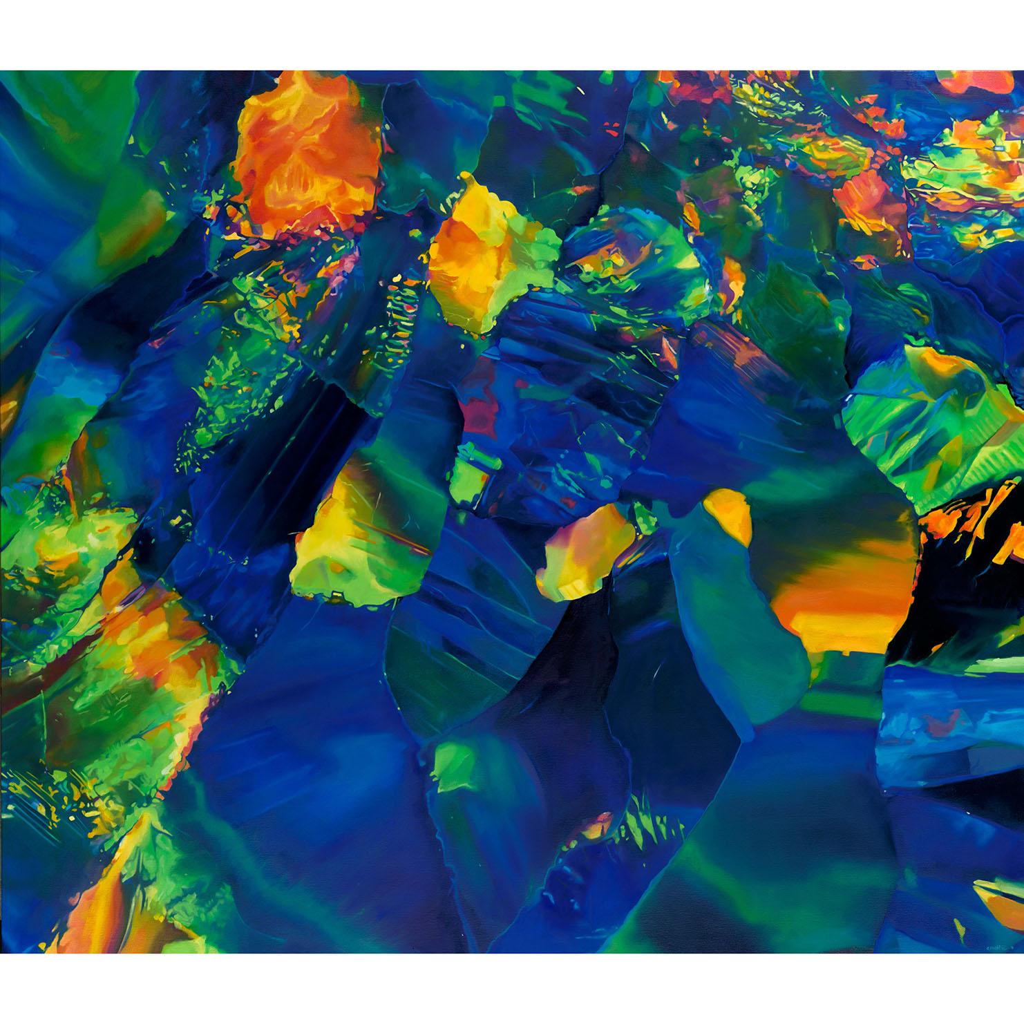 - INDIGOblack opaloil on panel60 x 52 in2019