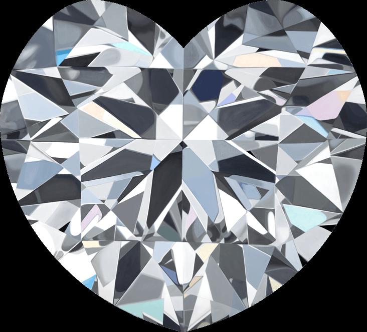- KATEblack label heart shape diamondoil on panel16 x 16 in2018