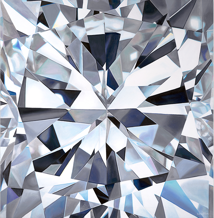 - JULIETTEcushion cut diamondoil on canvas36 x 36 in2015