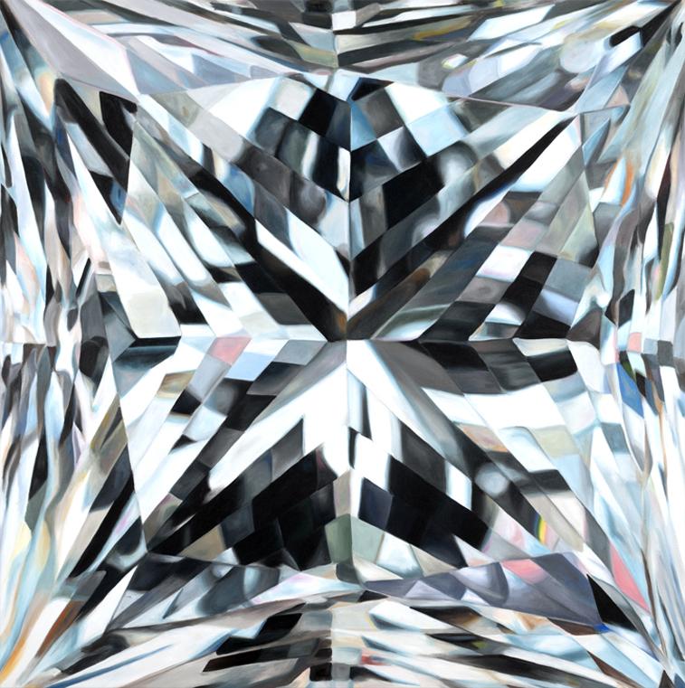 - ELLEprincess cut diamondacrylic on canvas60 x 60 in2012