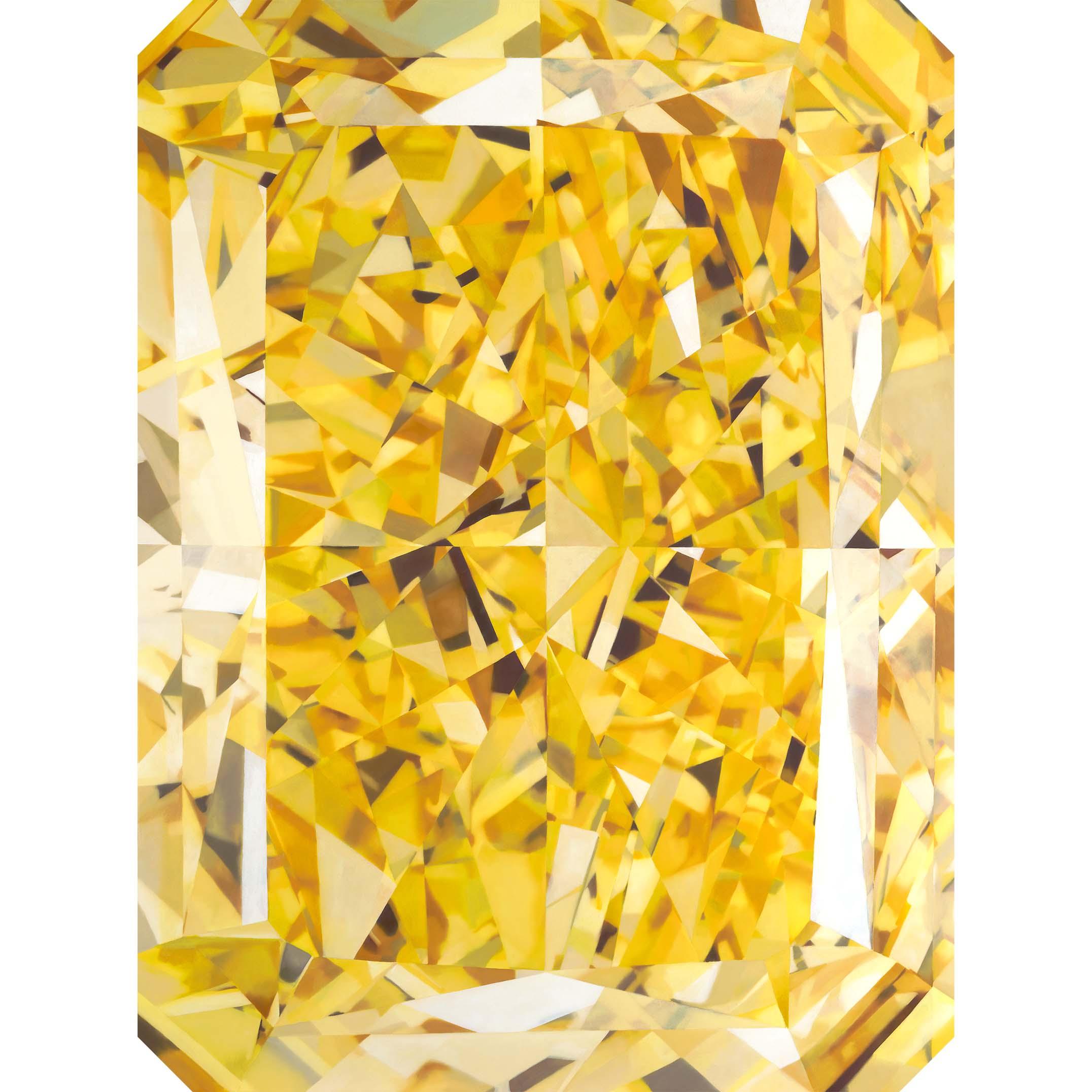 - KARENyellow radiant cut diamondoil on panel36 x 24 in2018