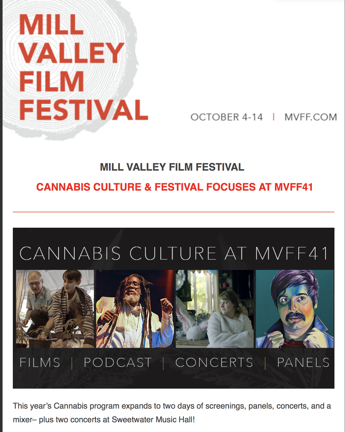 "Nice Guys Delivery was a Sponsor at the 2018 41st MVFF - We had the honor of sponsoring the powerful film: ""Weed the People."""