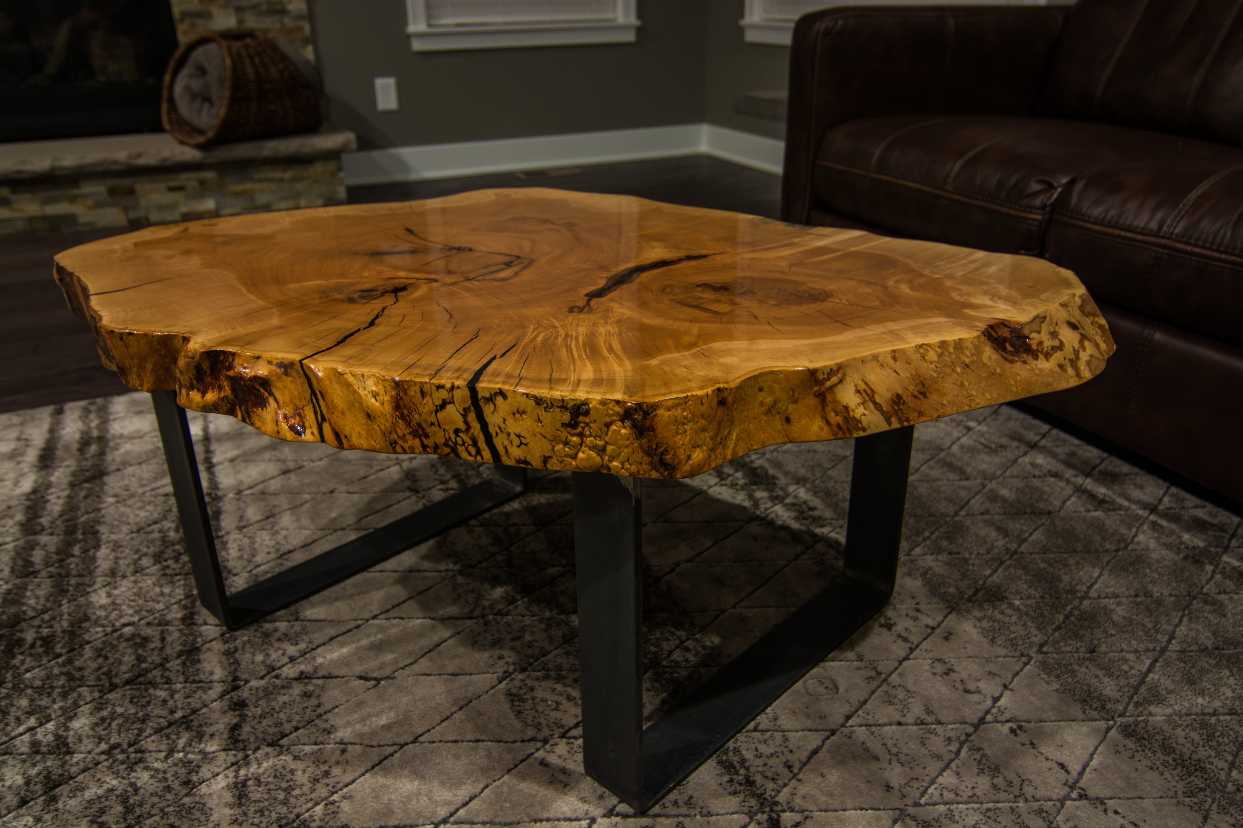 Oak Cookie Coffee Table