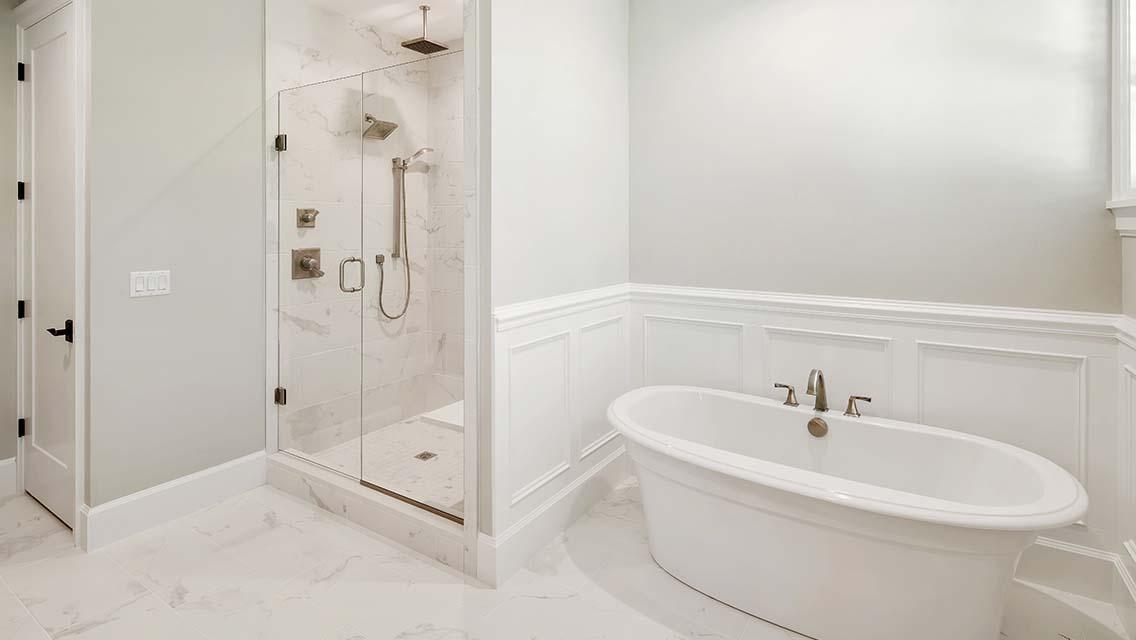 2 Creeks custom tile shower and soaker tub