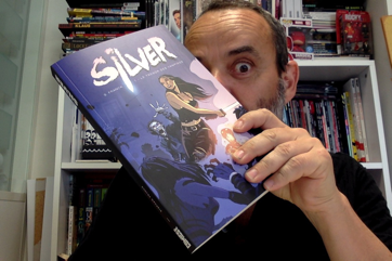 That's my French publisher Olivier Jalabert holding the finished book!