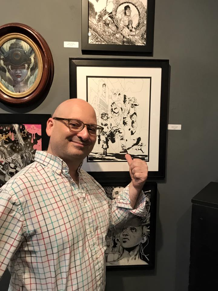 Yours truly standing in front of the original at the opening at the Copro Gallery in Santa Monica