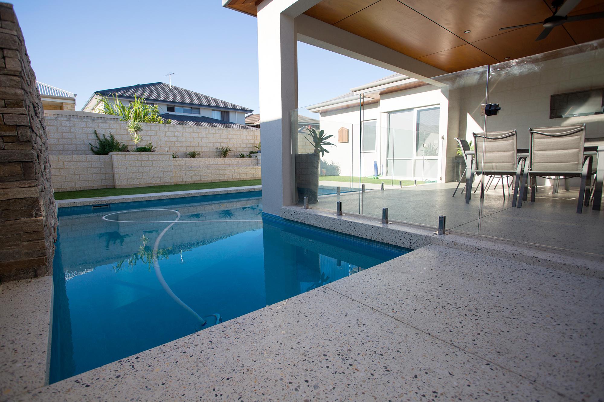 Sorrento Stone. Perth Concrete Specialists. Pool Edging.
