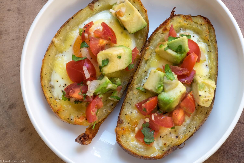 Eggs in Crispy Potato Skins
