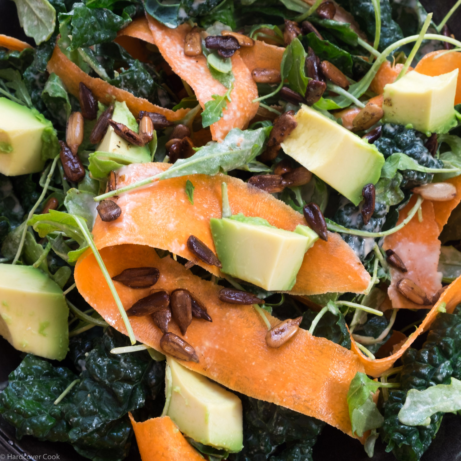 Peppery Greens with Tahini Dressing