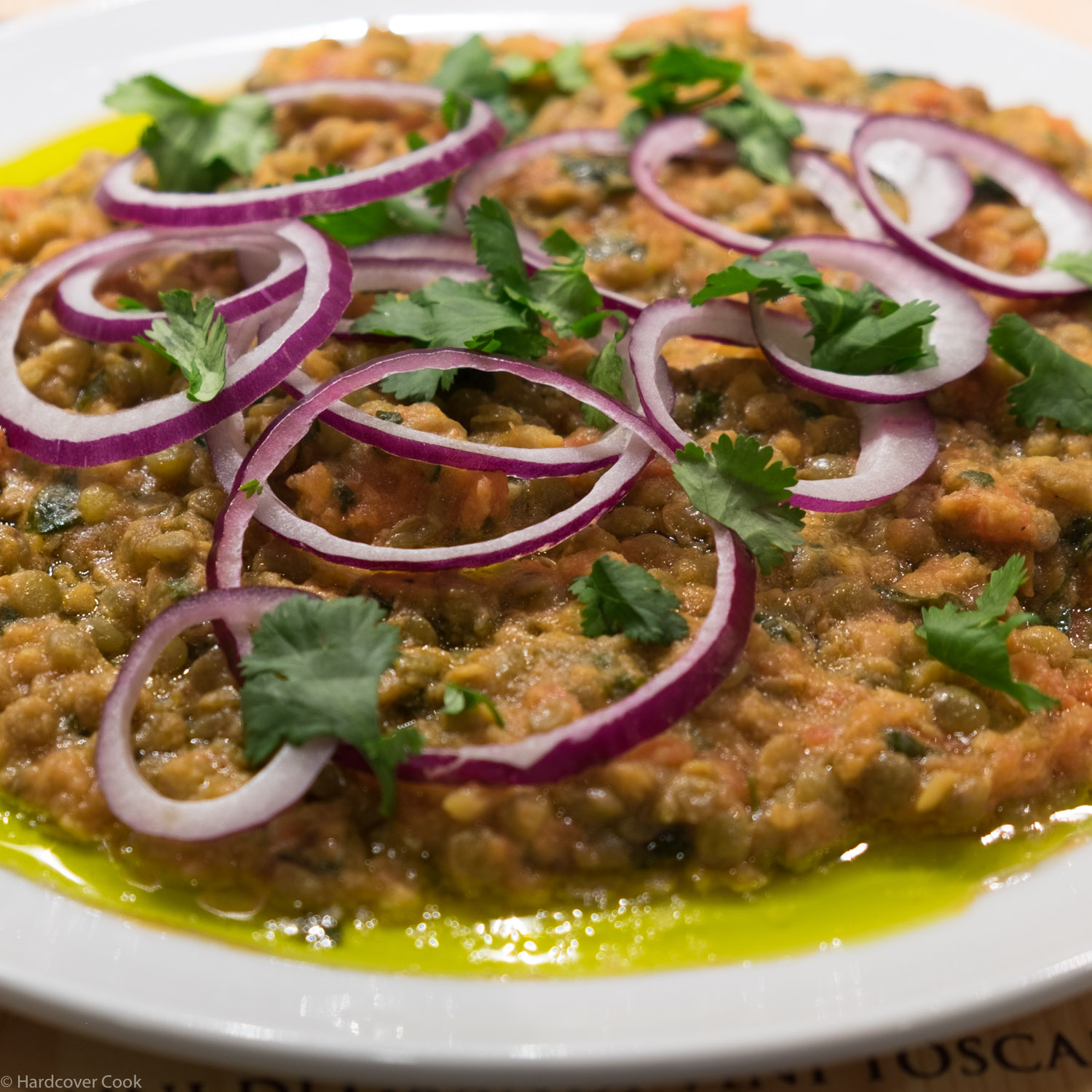 Crushed Puy Lentils with Tahini and Cumin from Plenty More