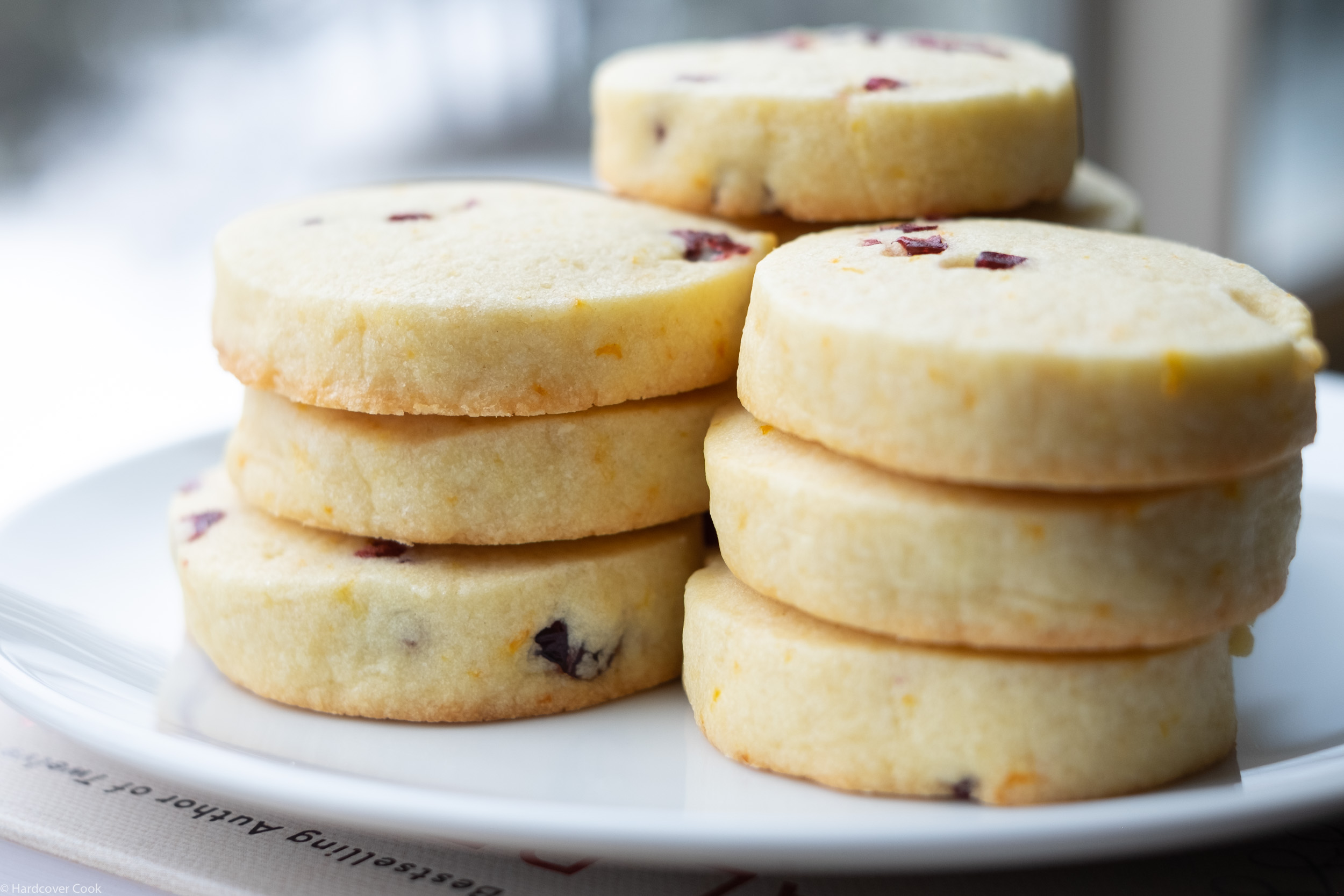 Cran-Orange Shortbread Cookies from To Deliciousness and Beyond
