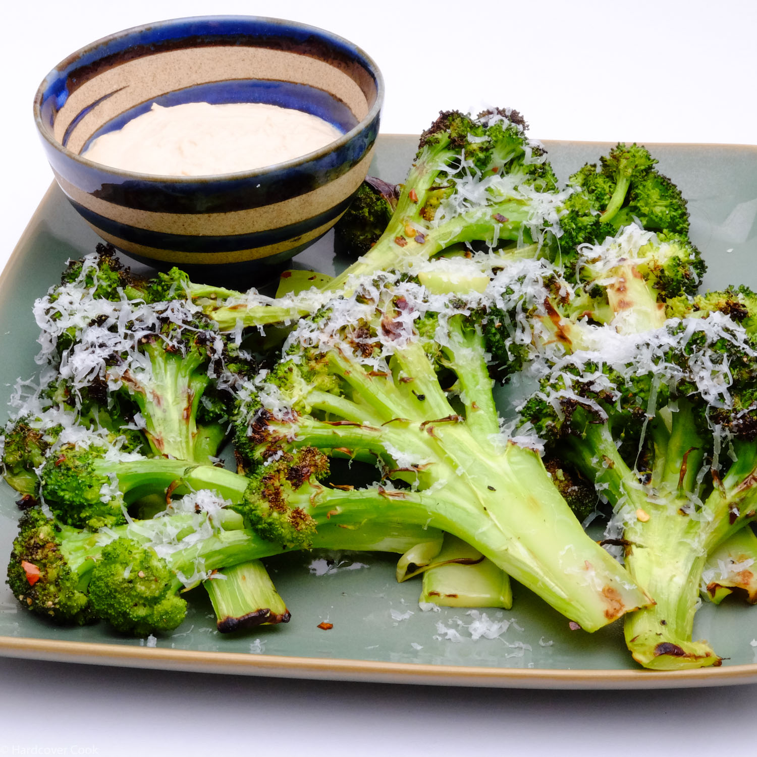 Charred Broccoli with Tonnato, Pecorino, Lemon and Chiles from Six Seasons