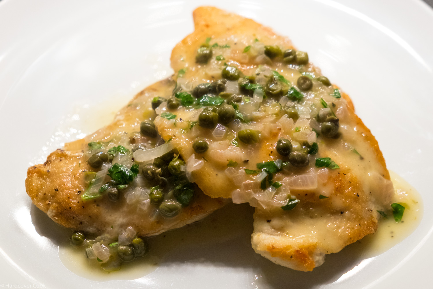 3-minute chicken cutlets & Lemon Caper Pan Sauce from The Food Lab