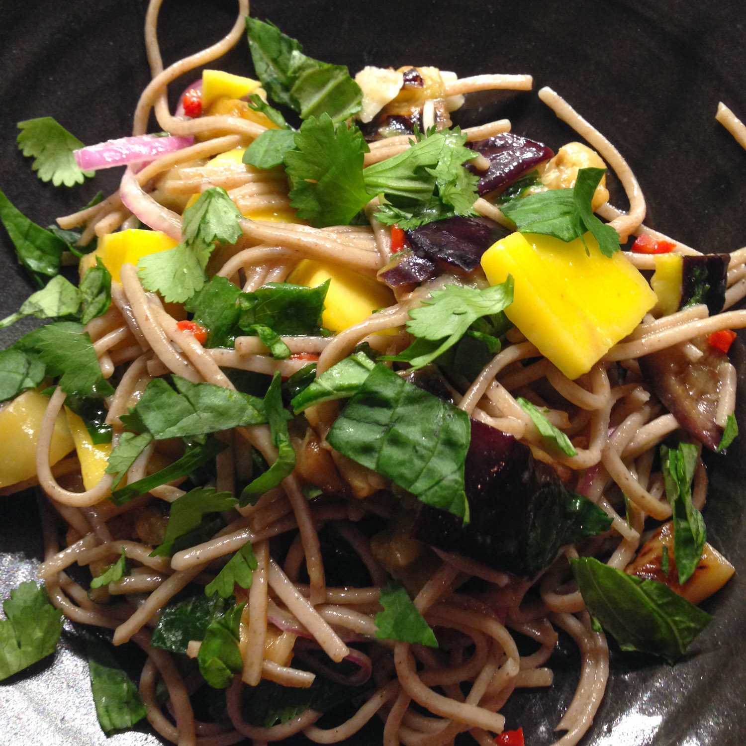 Soba Noodles with Eggplant and Mango from Plenty