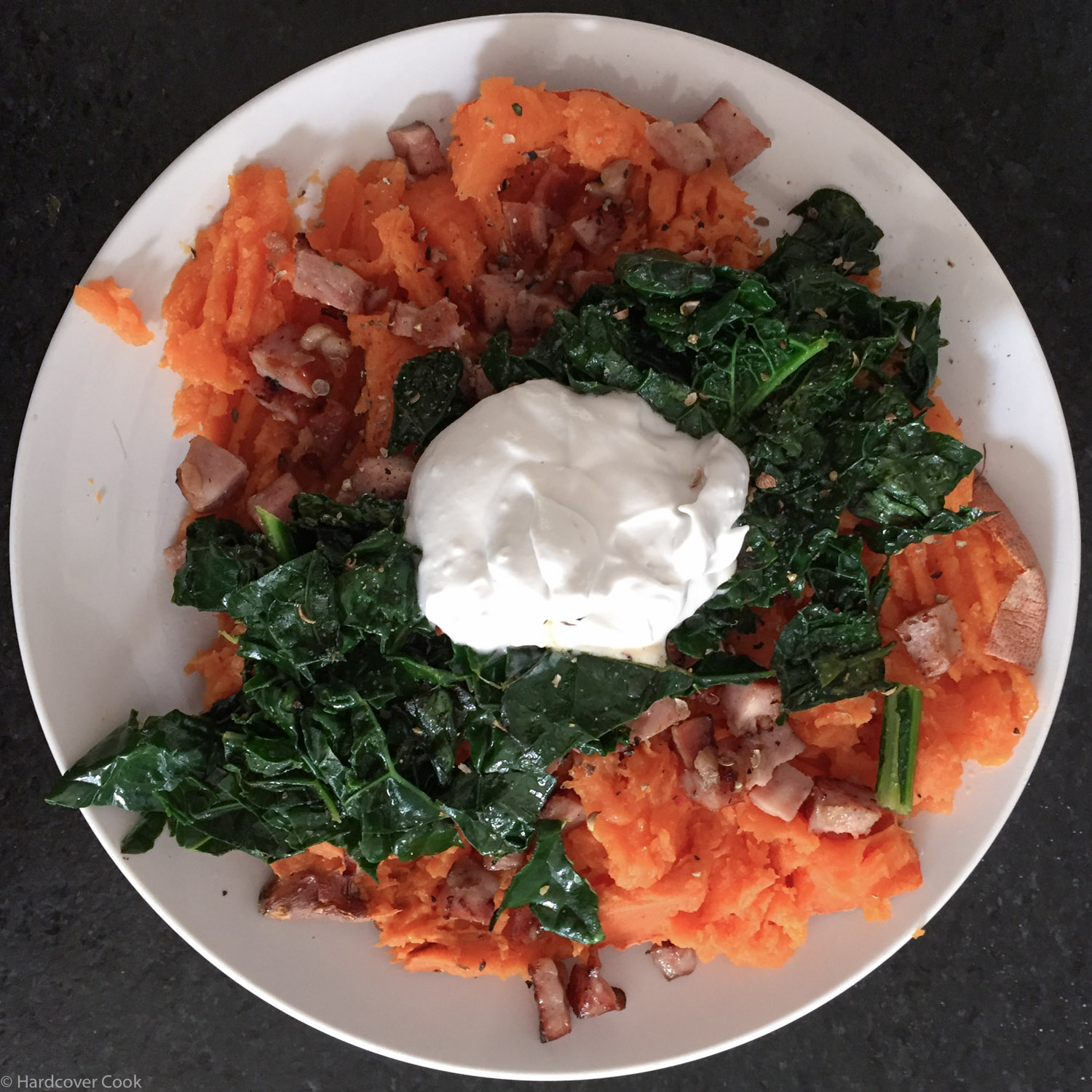 Loaded Sweet Potatoes: Sausage & Kale from Fed & Fit