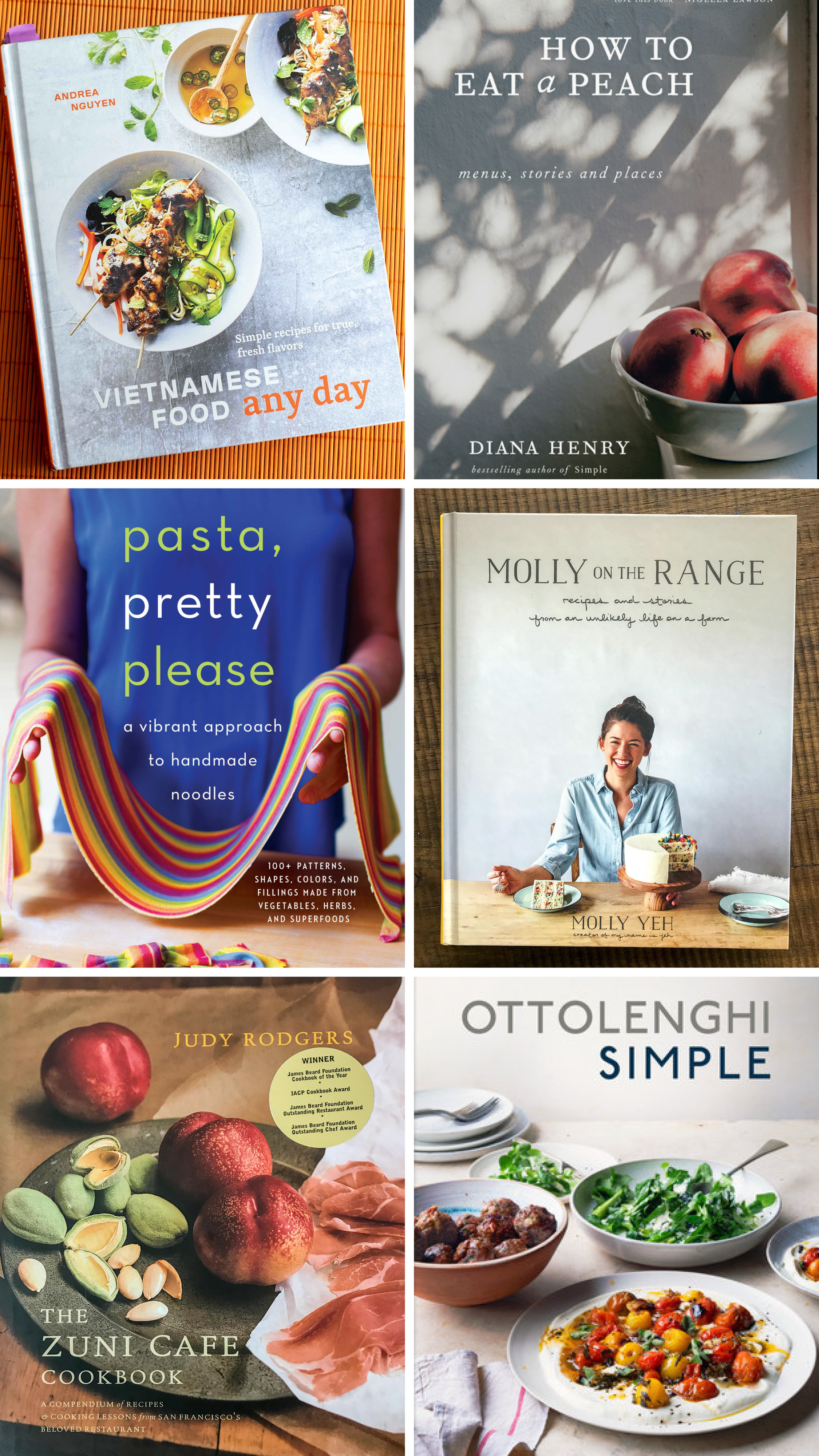 A few of the great books selected for March cookbook clubs.