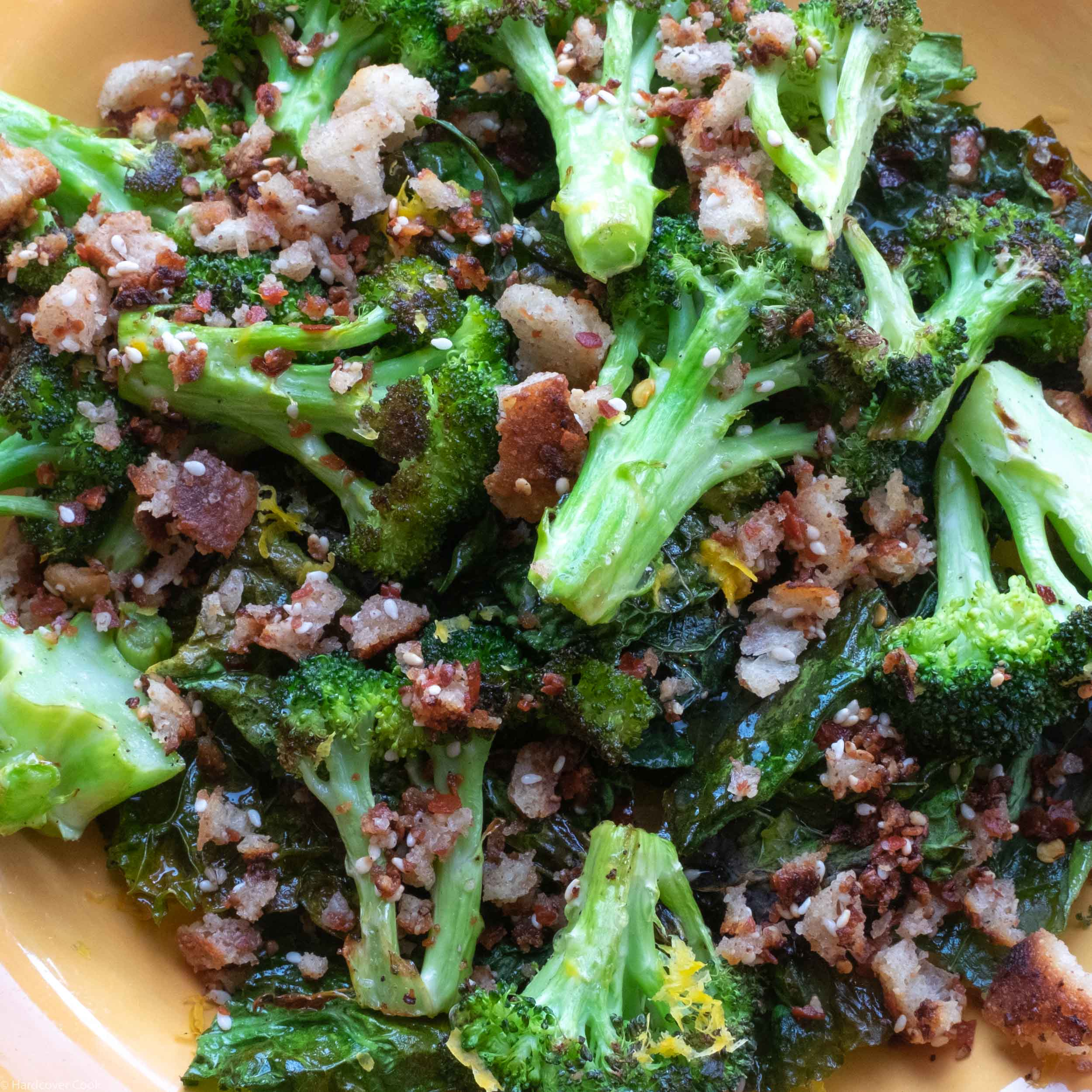 Crunchy Roasted Broccoli with Toasted Breadcrumbs from Half Baked Harvest