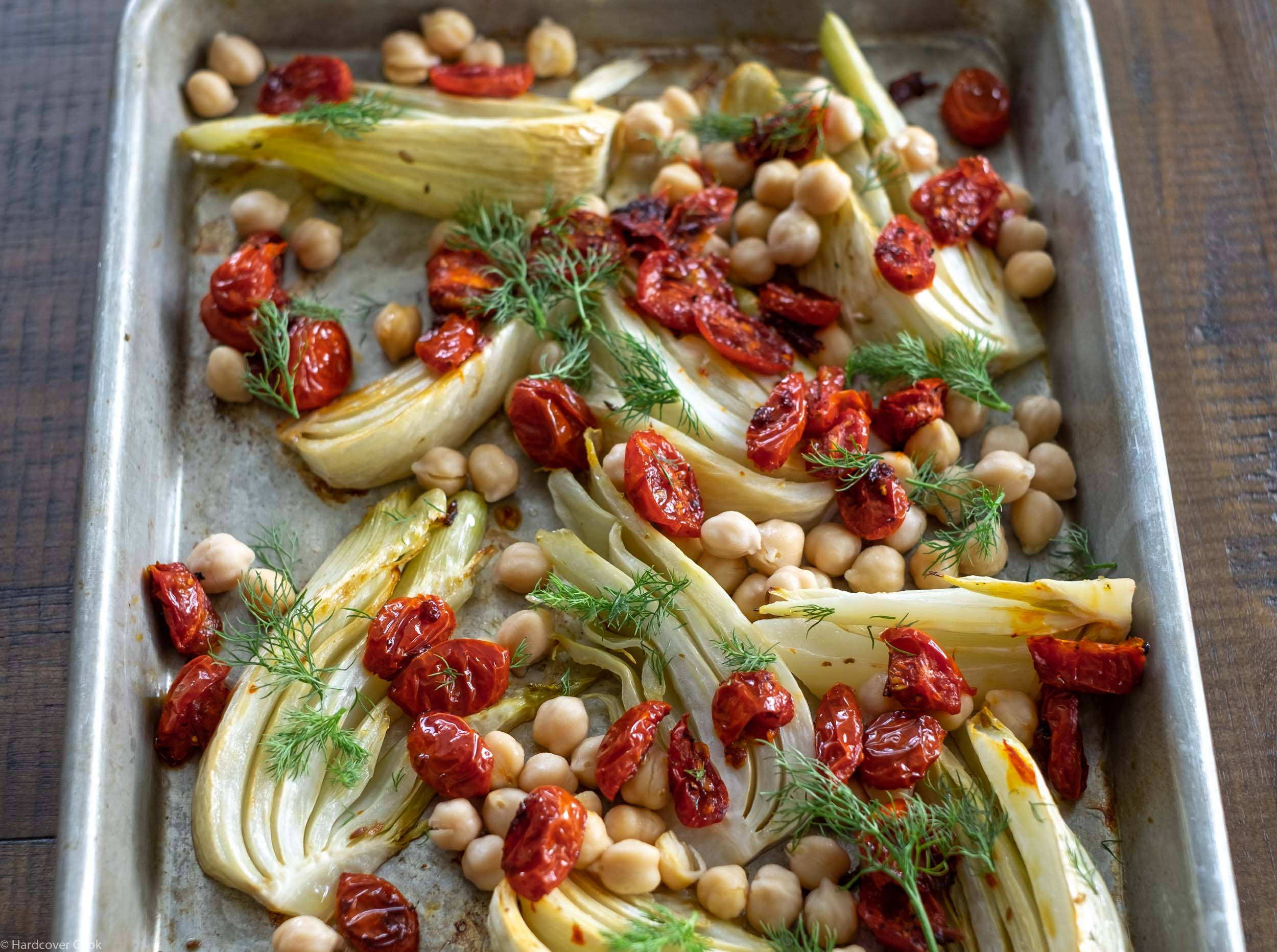 Roasted Tomatoes, Fennel & Chickpeas with Preserved Lemon & Honey from How to Eat a Peach