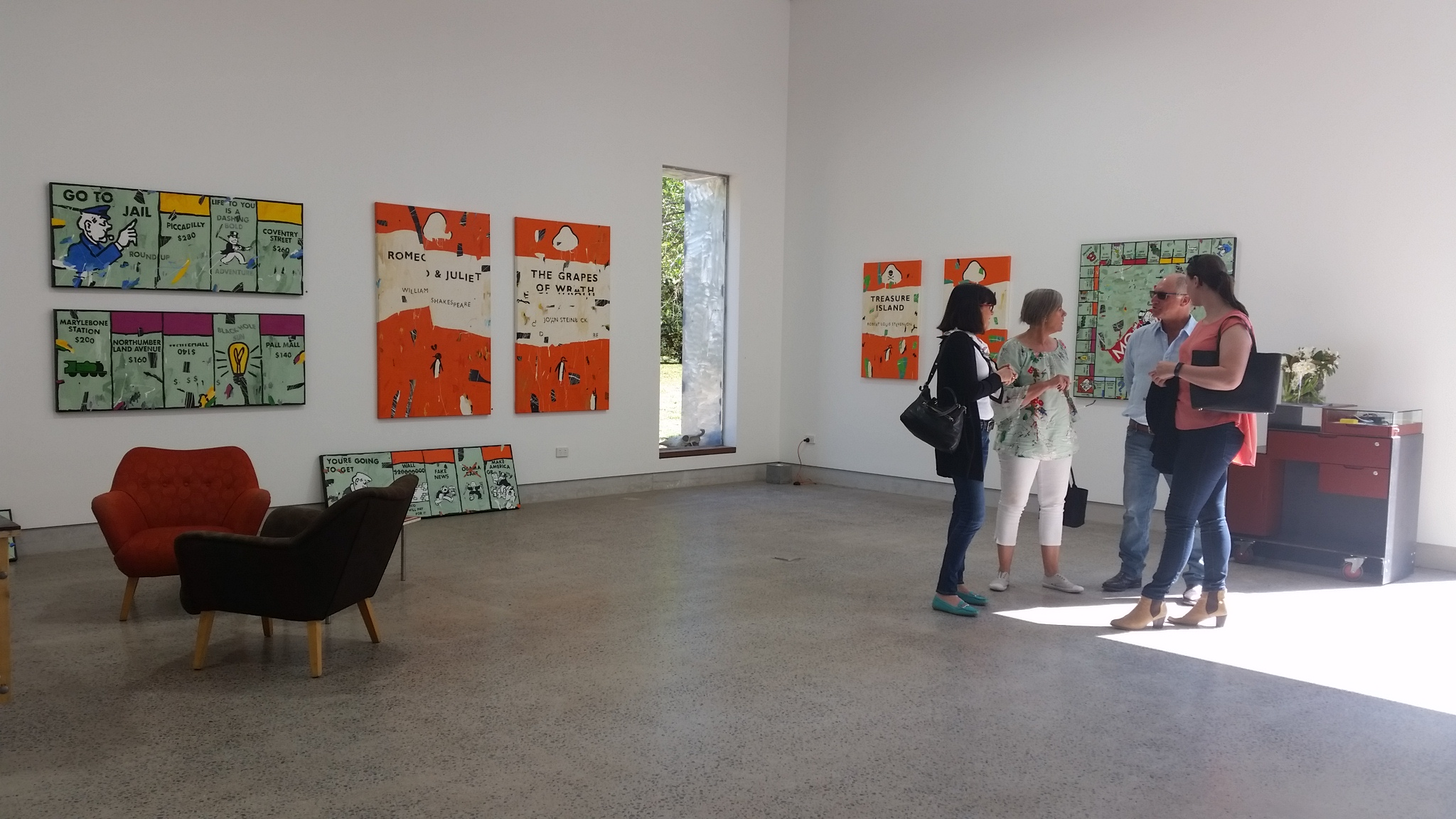 Inside the new gallery space