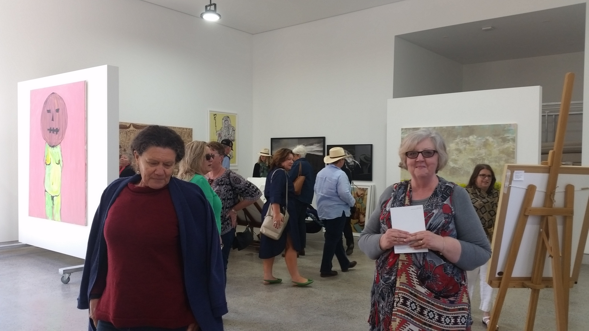 A couple of our guests enjoying a walk around the gallery
