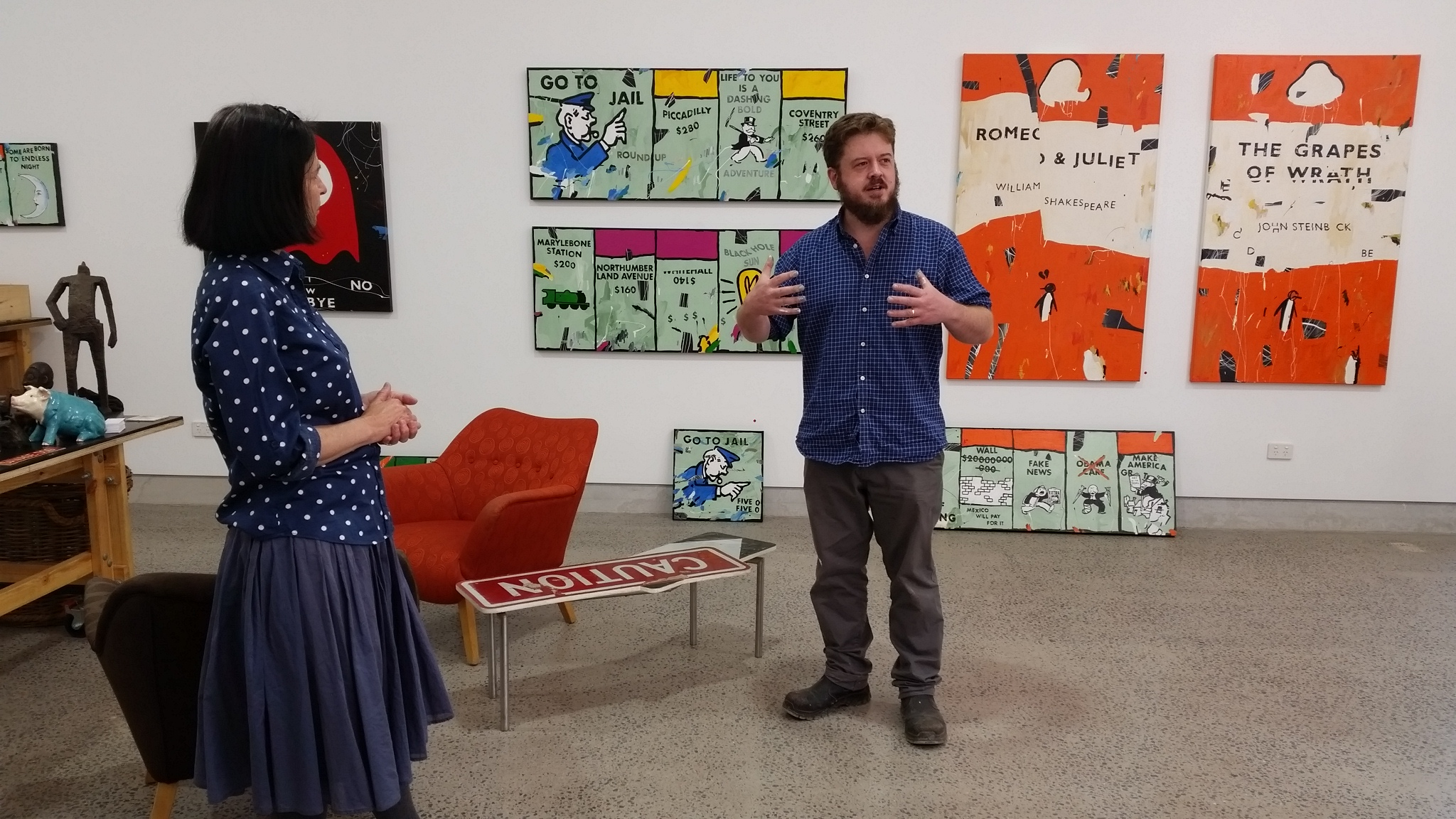 Michelle and Ben during the Artist and Curitorial talk