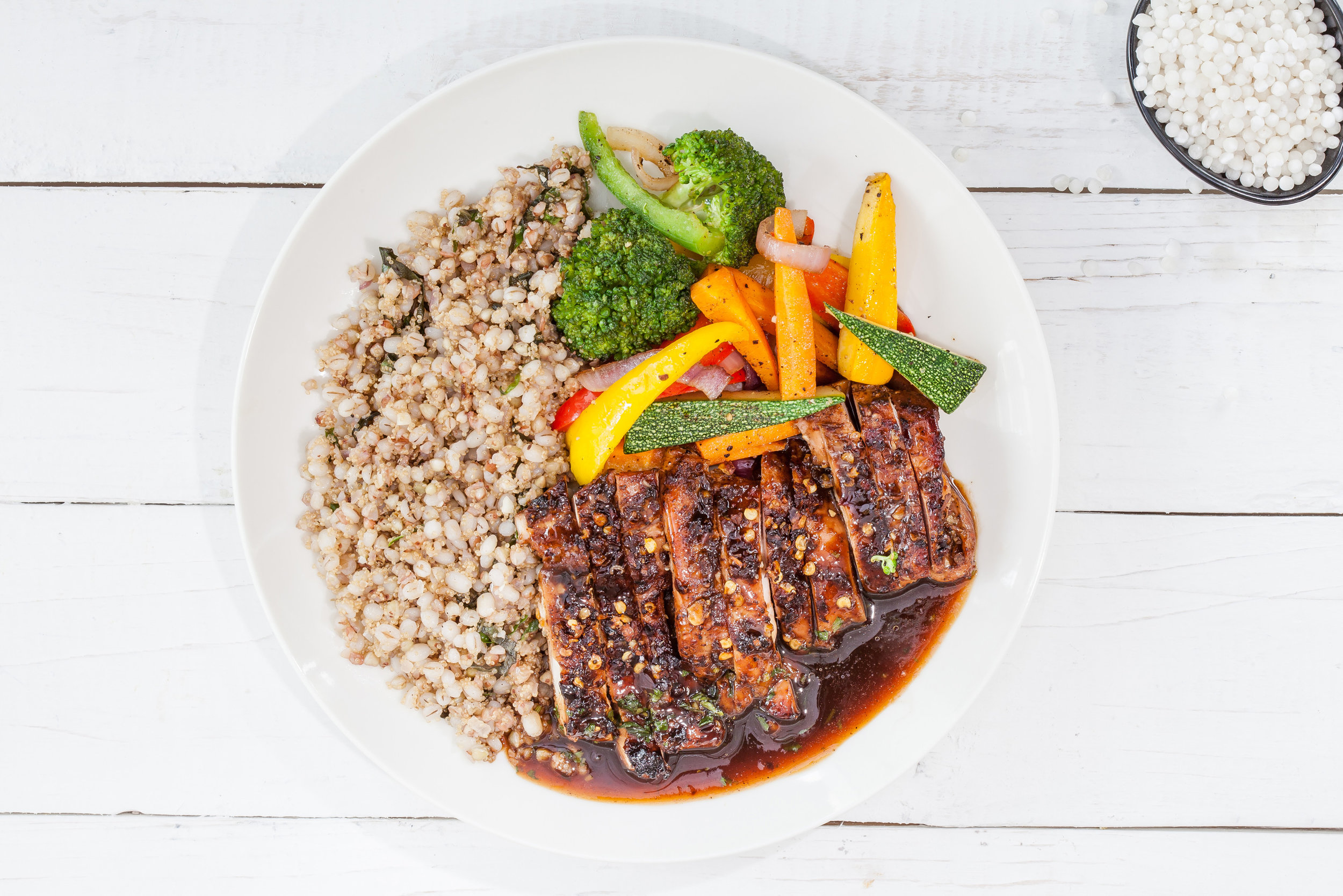 Today's Special - Low Carb BBQ Chicken Amaranth SteakTry our brand new Amaranth dish to experience a protein packed delicious meal. A juicy chicken steak that comes alive with Amaranth. Feast on this barbequed chicken steak served with butter sauteed veggies and a portion of cilantro Amaranth barley mix. With a side of smoked pepper sauce, this dish sums up proteins, rich fiber, and deliciousness. Order Now!