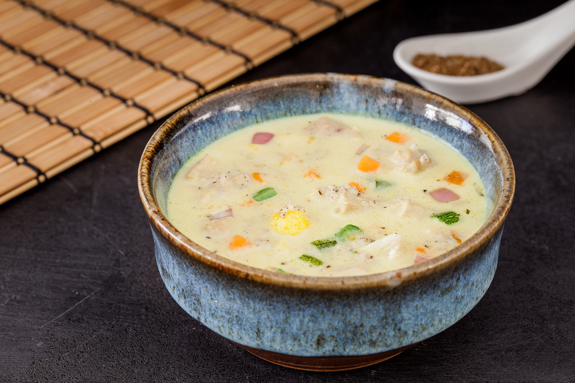 Spiced Curried Millet Chicken Soup (Non Veg).jpg