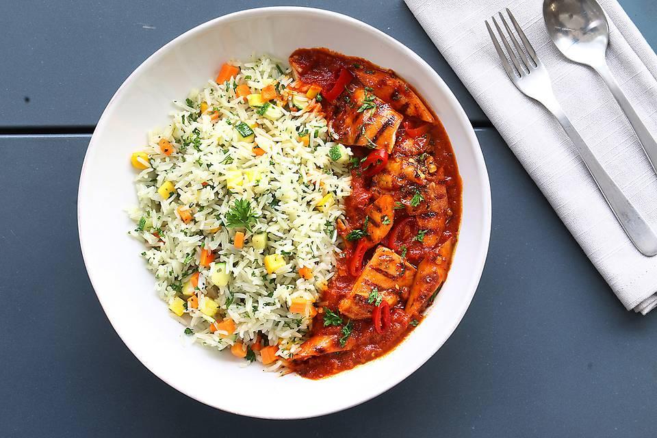Spicy Chicken Sausage Rice Bowl.JPG