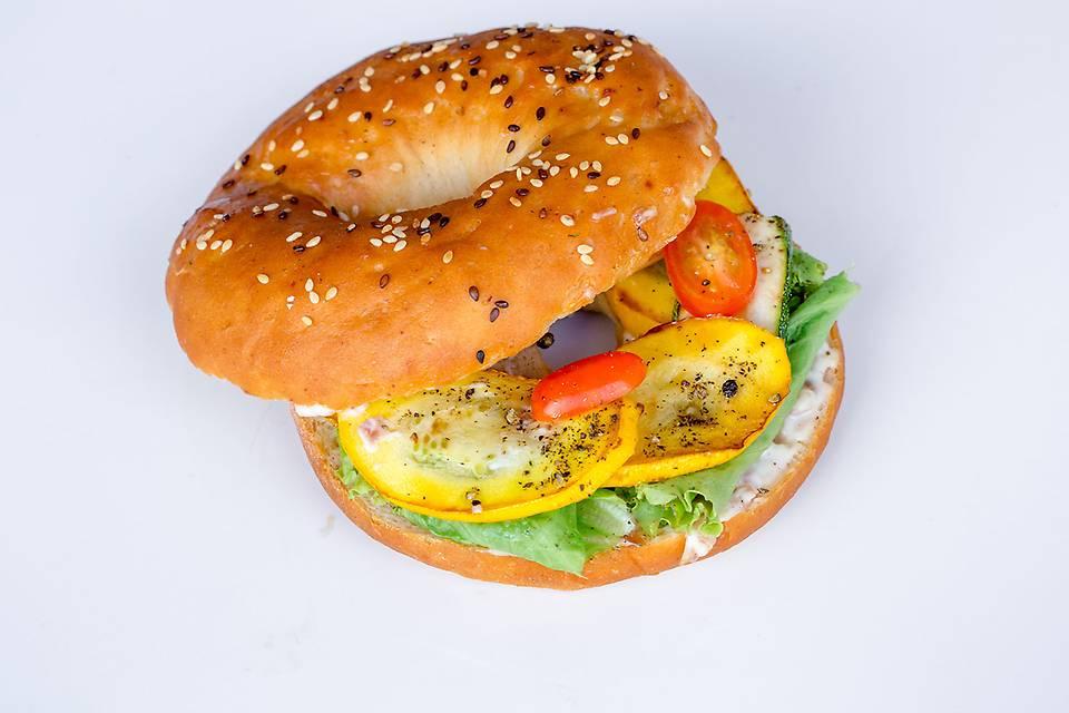 Grilled Zucchini Bagelwich