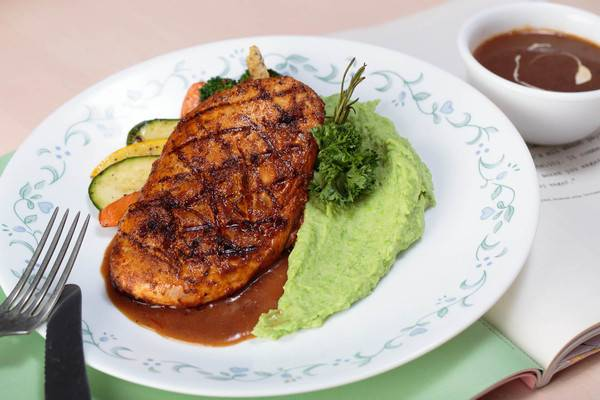 - Peruvian Grilled Chicken and Mashed Peas