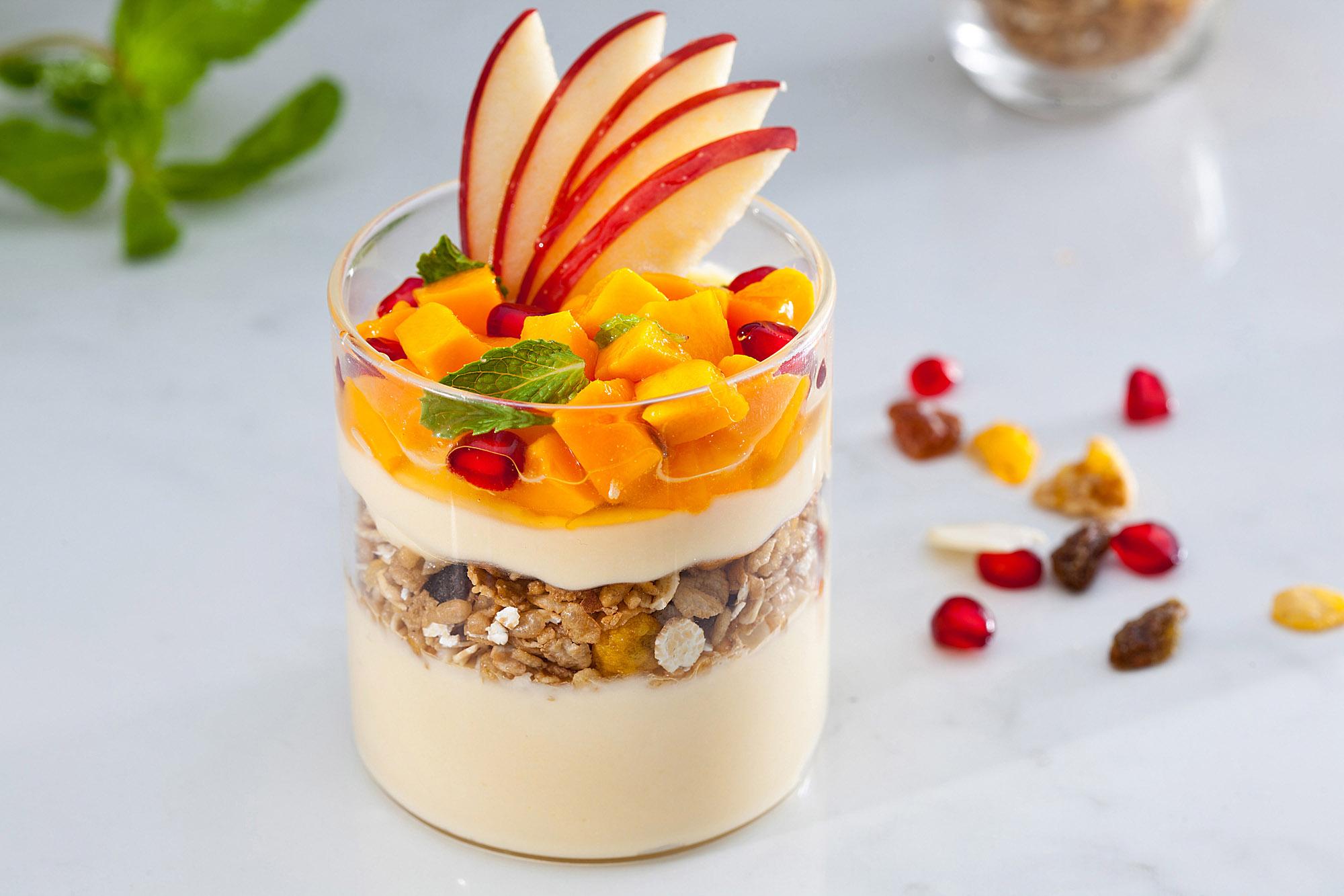 Mango Yogurt Parfait (Veg).JPG