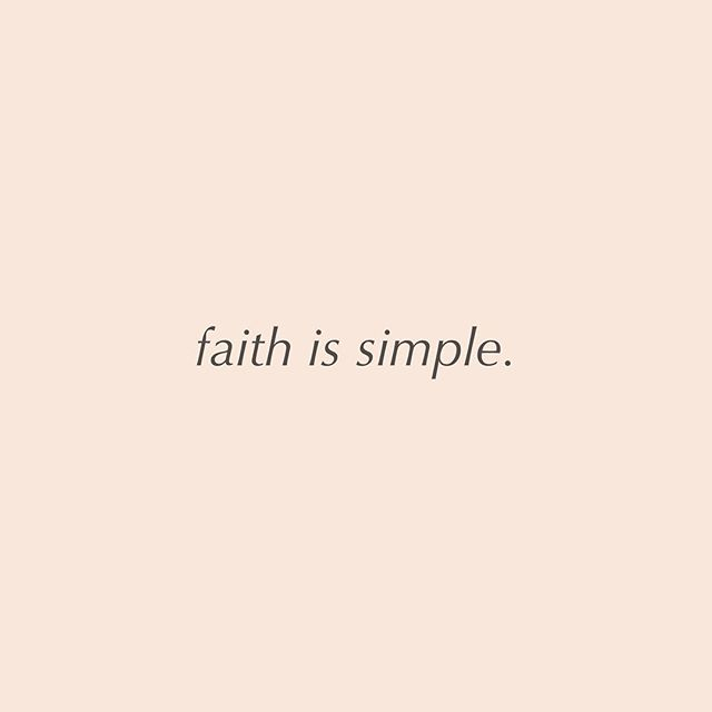 Let's not over complicate it!!!! #faithissimple #blessednesses