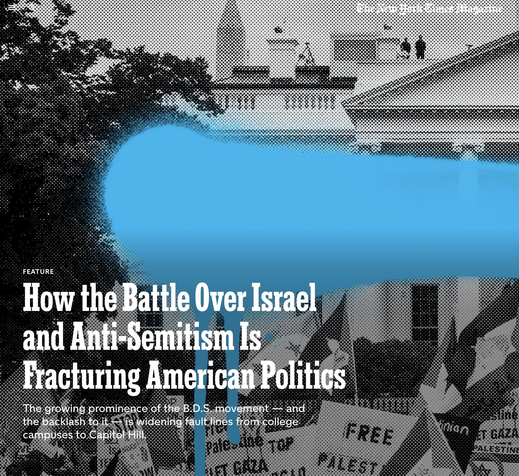 NYT Magazine: How the Battle Over Israel is Fracturing US Politics