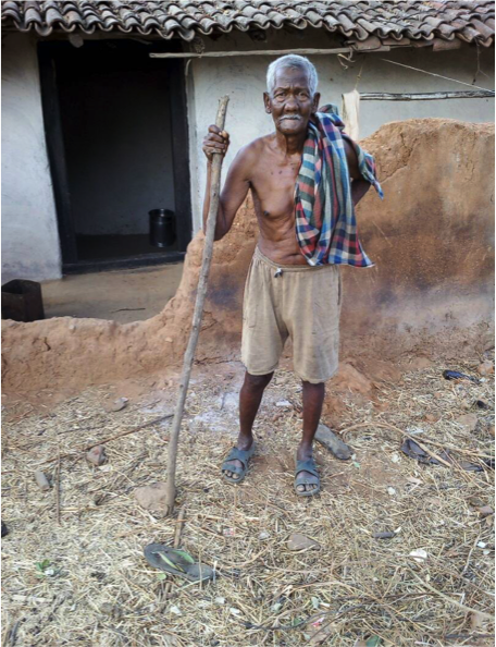 Kondaha Ram, a Nagesia Adivasi, of a particularly vulnerable tribal group, is not able to get his pension amount of Rs 4.500 because of Aadhaar glitches.