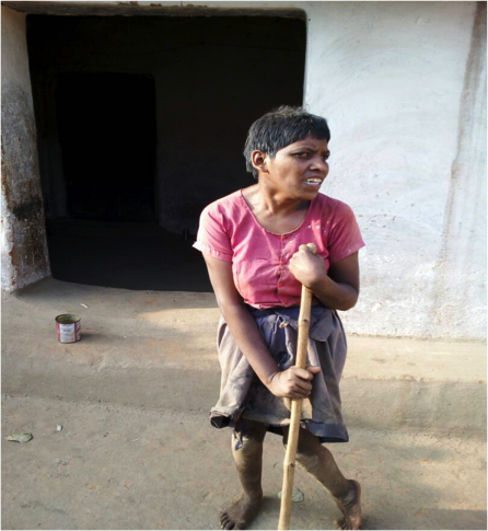 Sarojini, a Kanwar Adivasi, cannot get her disability pension anymore because of errors in Aadhaar linking. An amount of Rs 4,550 has been denied to her in Aadhaar errors.