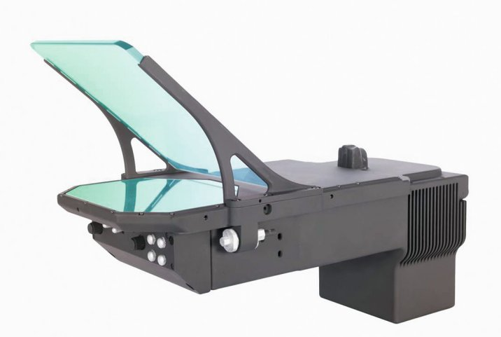 The LiteHUD is billed as being 60% smaller and 50% lighter than other comparable systems. (BAE Systems)