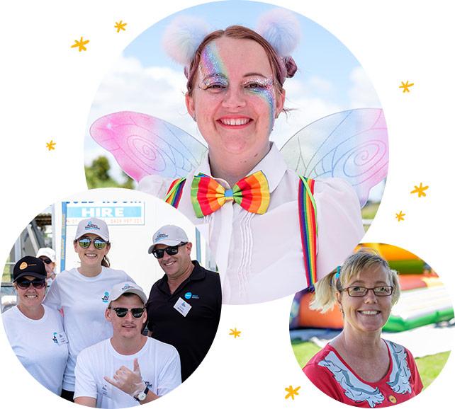 STEPS Autism Treehouse event volunteers