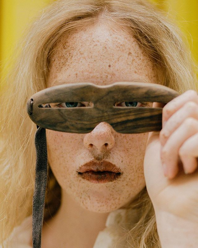 First Inuit snow goggles in @mafcsm  graduate story in collaborating with @cubitts ' exhibition archive for @documentjournal shot by @andrewnuding | set design by @m_errry makeup by @mattiewhite_makeup hair by @yuukiyanase model @lilyfbuckley @antiagencyldn fashion assistants @abithaa_san @saramariaperilli special thanks to Tom Broughton @cubitts