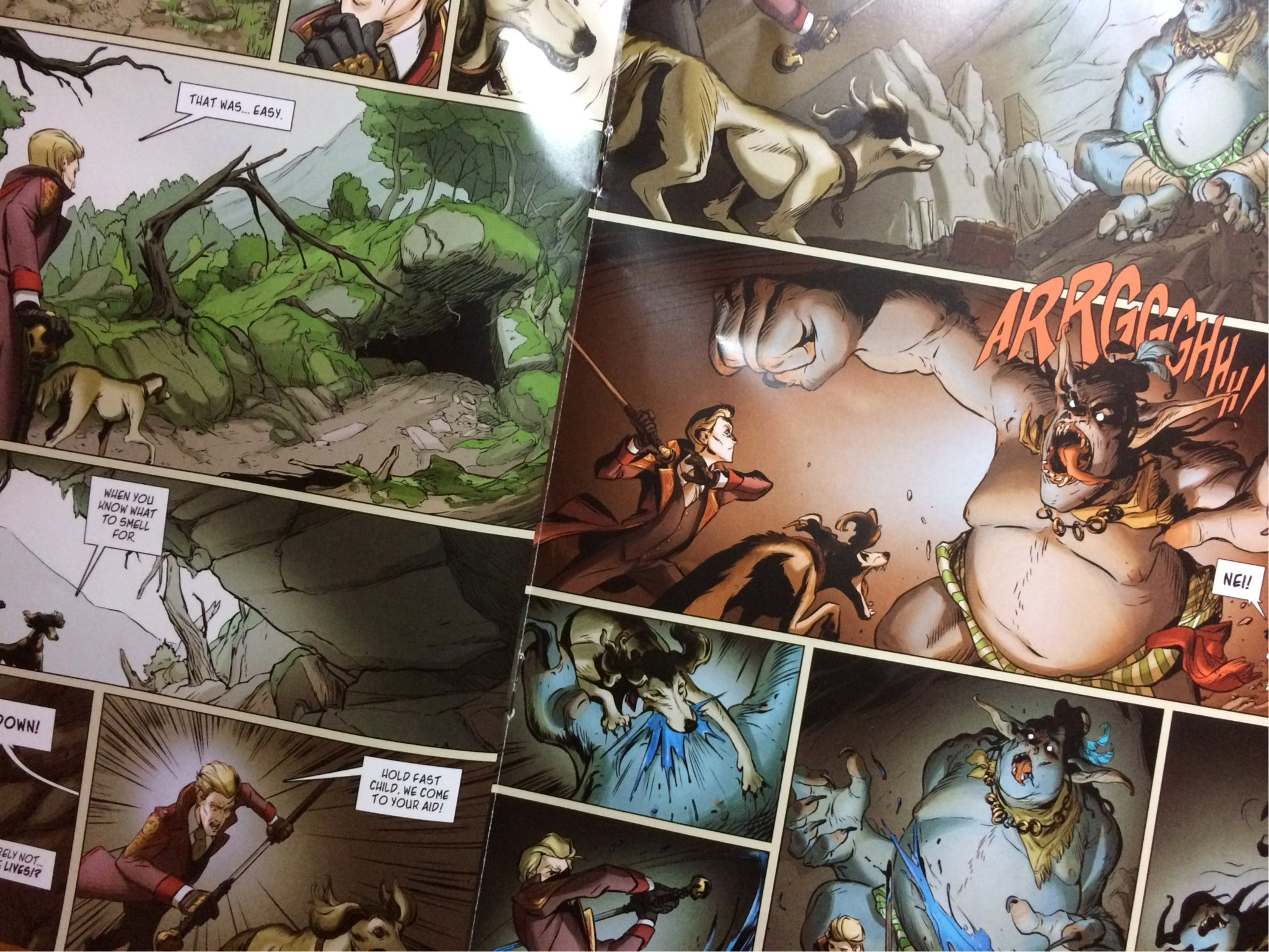 Some pages from The Du Lac and Fey comic which we picked up :)