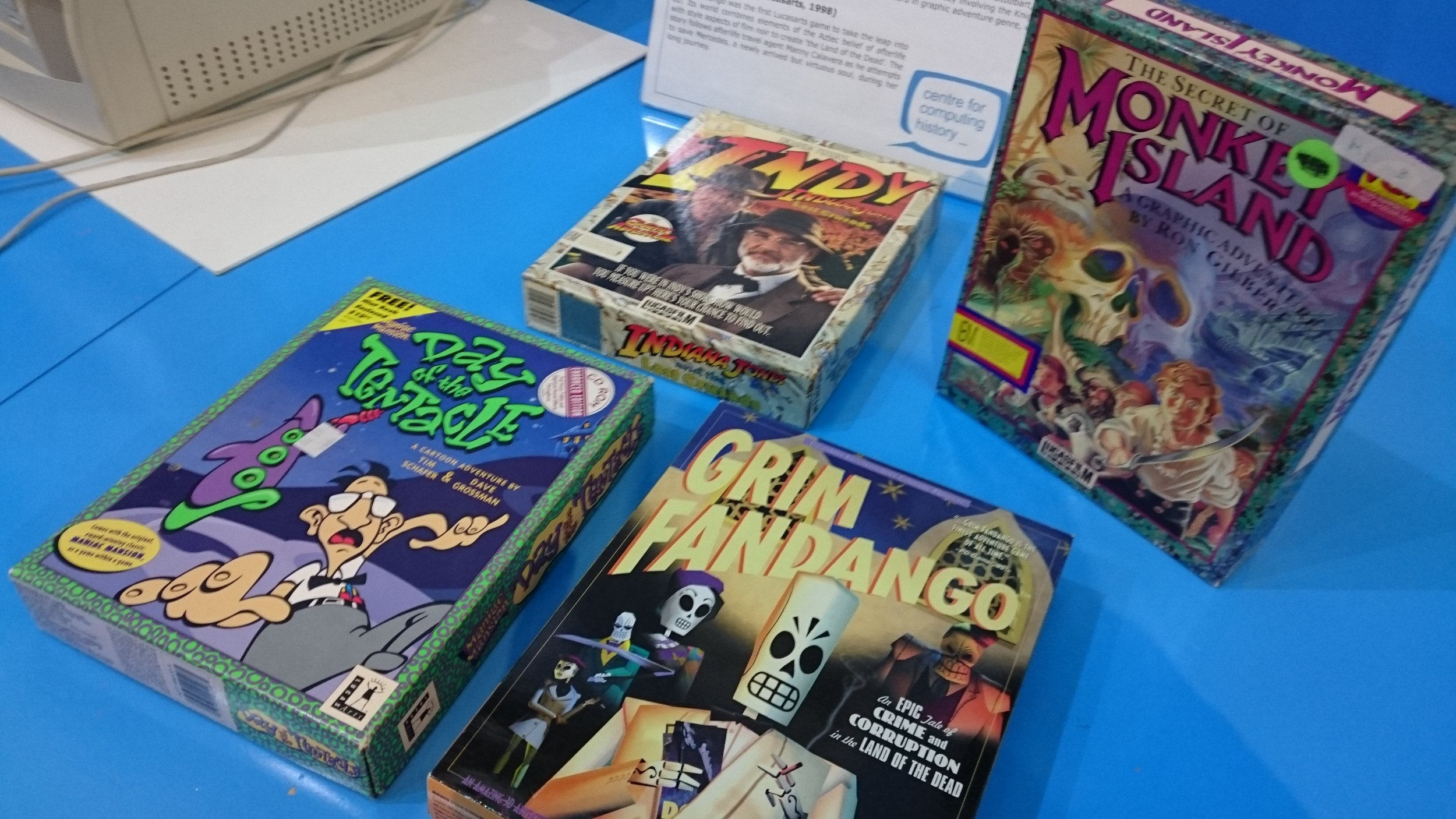 The lovely peeps got some classic adventure game out of storgage for us to sit alonside our stand
