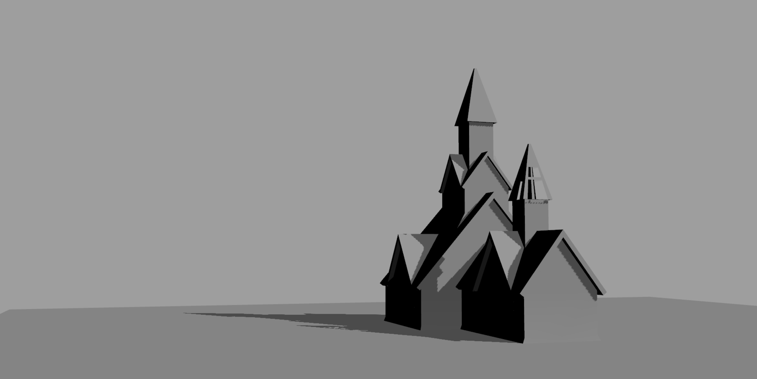 Quick 3d mockup of the church for perspective and lighting