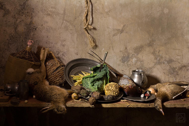 Légumes et gibier table d'office