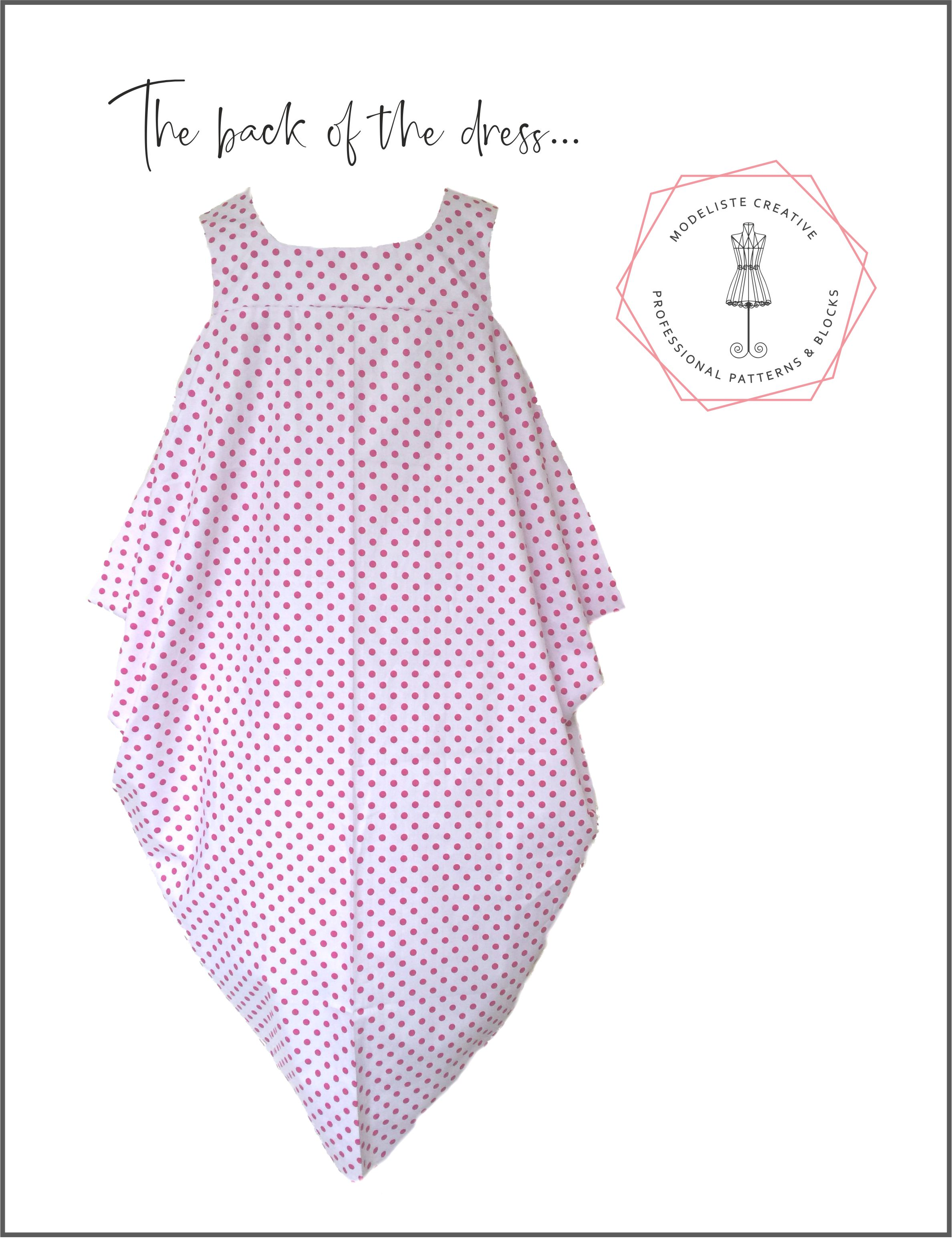 The Japanese Drape Dress Pdf Instant Download 2 Full Size A0 Sheets Print Yourself Modeliste Creative Design Cut Wear